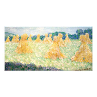Young Ladies of Giverny Sun Effect by Claude Monet Photo Cards
