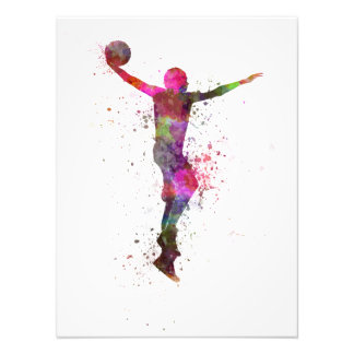Young man basketball to player dunking photo art