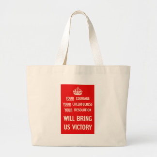 Your courage Your Cheerfulness Your Resolution Jumbo Tote Bag