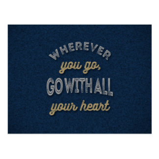 Your Heart Inspirational Quotes Postcard