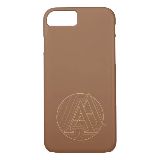 "Your monogram ""A&"" on ""iced coffee"" background iPhone 7 Case"