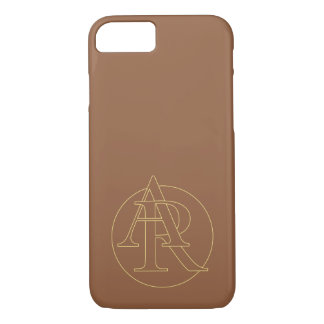 "Your monogram ""A&R"" on ""iced coffee"" background iPhone 7 Case"