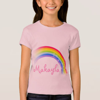 """""""Your name"""" (up to 7 letters) rainbow pink top T-shirts"""