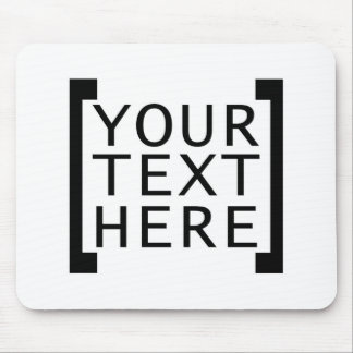 your text here funny advertise humor joke computer mouse pad