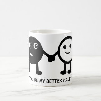 You're My Better Half Basic White Mug