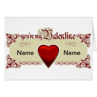 You're My Valentine Red Heart Greeting Card