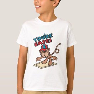 You're Safe Cartoon Monkey T Shirt