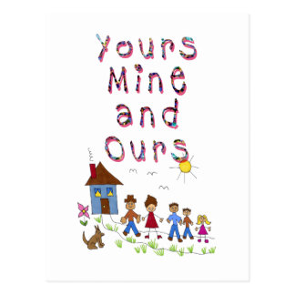Yours Mine and Ours Blended Family Stepmom Stepdad Postcard