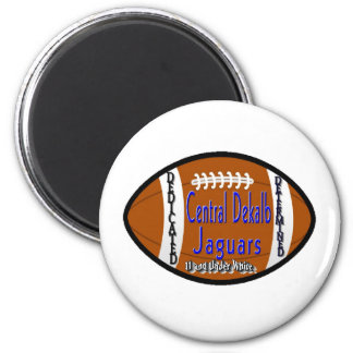 Youth Football Alliance Central Dekalb Jaguars Whi 6 Cm Round Magnet
