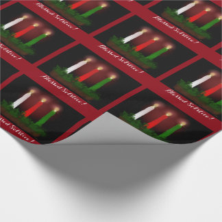 Yule Candles Winter Solstice Witch Wiccan Pagan Wrapping Paper