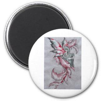 Yule Faery 6 Cm Round Magnet