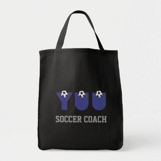 Yuu in Soccer Blue Grocery Tote Bag