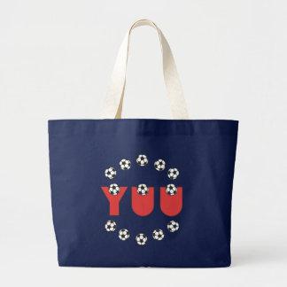 Yuu in Soccer Red Jumbo Tote Bag