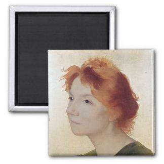 Yvette Guilbert  1895 Square Magnet