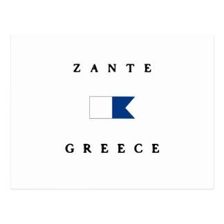 Zante Greece Alpha Dive Flag Postcard