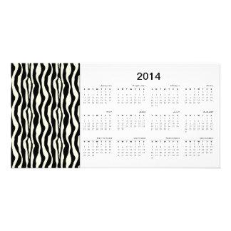 Zebra Stripes 2014 Calendar Photo Card