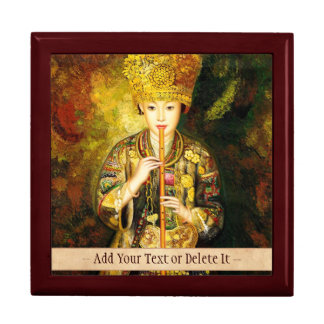Zhangbo Hmong Culture Girl is Piping chinese lady Large Square Gift Box