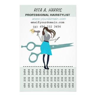 Zhoosh Beauty Salon Hairstylist  Hairdresser 14 Cm X 21.5 Cm Flyer