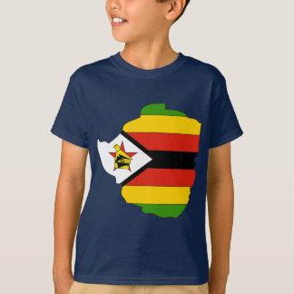 Zimbabwe flag map t shirt