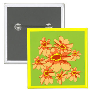 Zinnia  thoughts of friends button