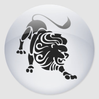 Zodiac Leo Round Sticker