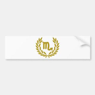 zodiac-scorpio-laurel bumper sticker