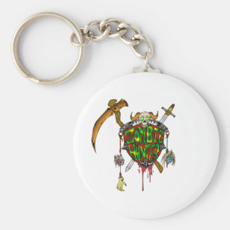 Zombie Hunter Logo Basic Round Button Key Ring