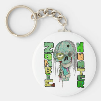 Zombie Hunter Pride Basic Round Button Key Ring
