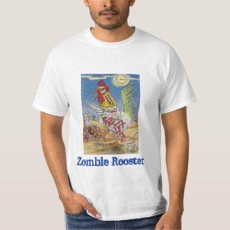Zombie Rooster Chicken Halloween Art Shirt