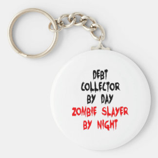 Zombie Slayer Debt Collector Basic Round Button Key Ring