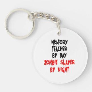Zombie Slayer History Teacher Double-Sided Round Acrylic Key Ring