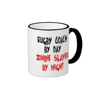 Zombie Slayer Rugby Coach Ringer Mug