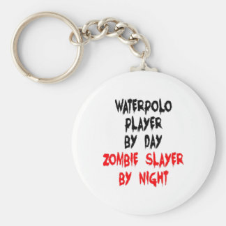 Zombie Slayer Waterpolo Player Basic Round Button Key Ring