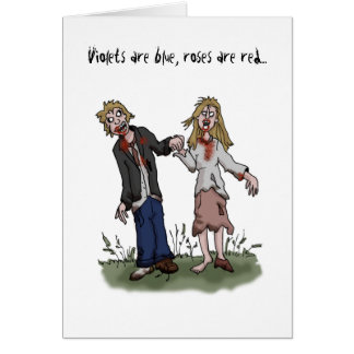 Zombie Valentine's Day Card - Love Card