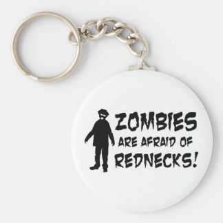 Zombies Are Afraid of Rednecks Basic Round Button Key Ring