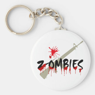 Zombies Hunter Basic Round Button Key Ring